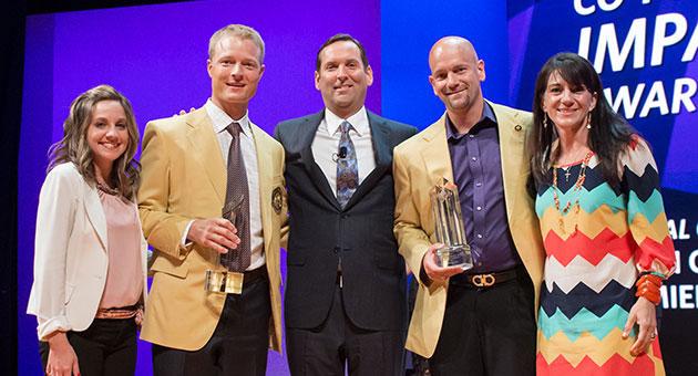 Shawn Cornett Damien Pechacek Ambit Energy Impact Award
