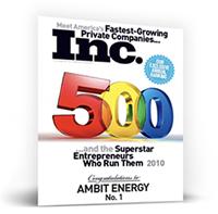 Ambit Energy Inc.500 Magazine Cover